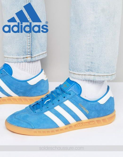 adidas hamburg bleu orange
